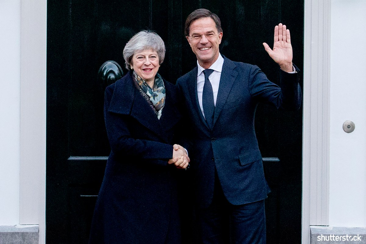 Netherlands Prime Minister Mark Rutte receives British Prime Minister #TheresaMay for a work breakfast about #brexit at the Catshuis + more photos of the day shutr.bz/EditorsPicks | 📸 AP/Shutterstock Sign up for our daily newsletter 👉 shutr.bz/EditorialNewsl…