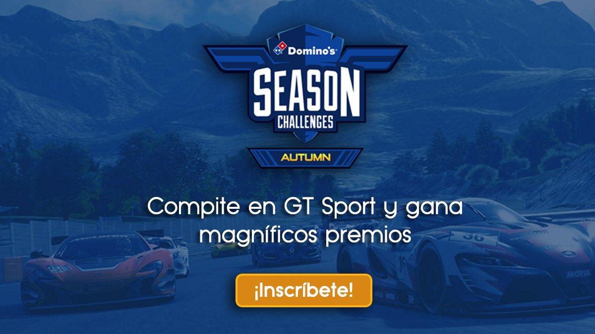 Este sábado 15 a las 17h tienes una cita con los #DominosAutumnChallenge para jugar al Gran Turismo Sport y llevarte los premios que están en juego -->  https://goo.gl/CwYHFG ¡En @LigaOficialPS!