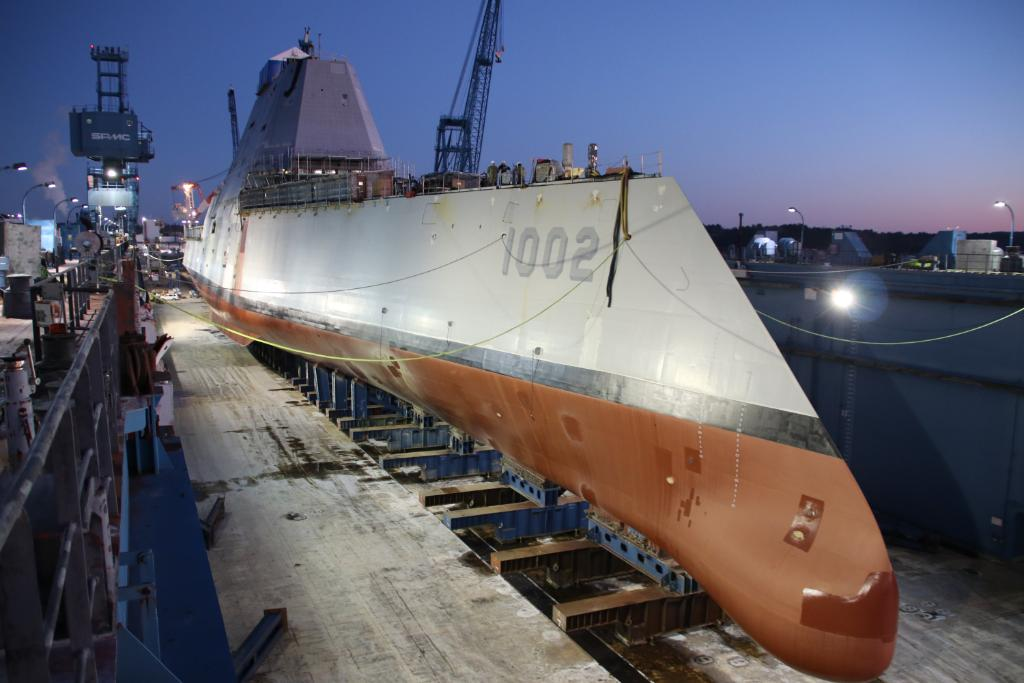 Adding to our #NavyCapacity one ship at time, #USNavys Future USS Lyndon B. Johnson #DDG1002 launched at Bath Iron Works. — navy.mil/submit/display…