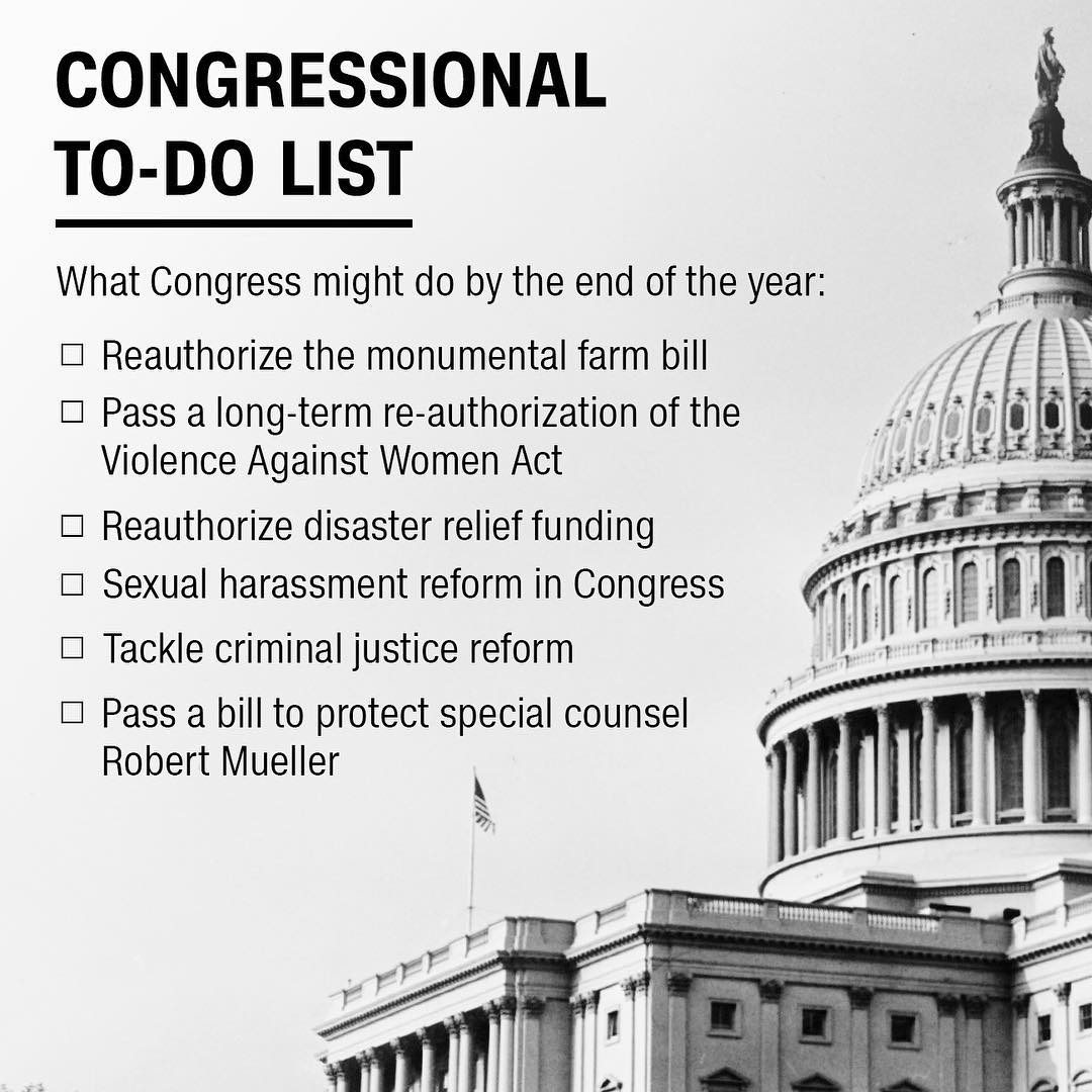 Congress' to-do list before the end of the year https://t.co/NeYJ59qd40