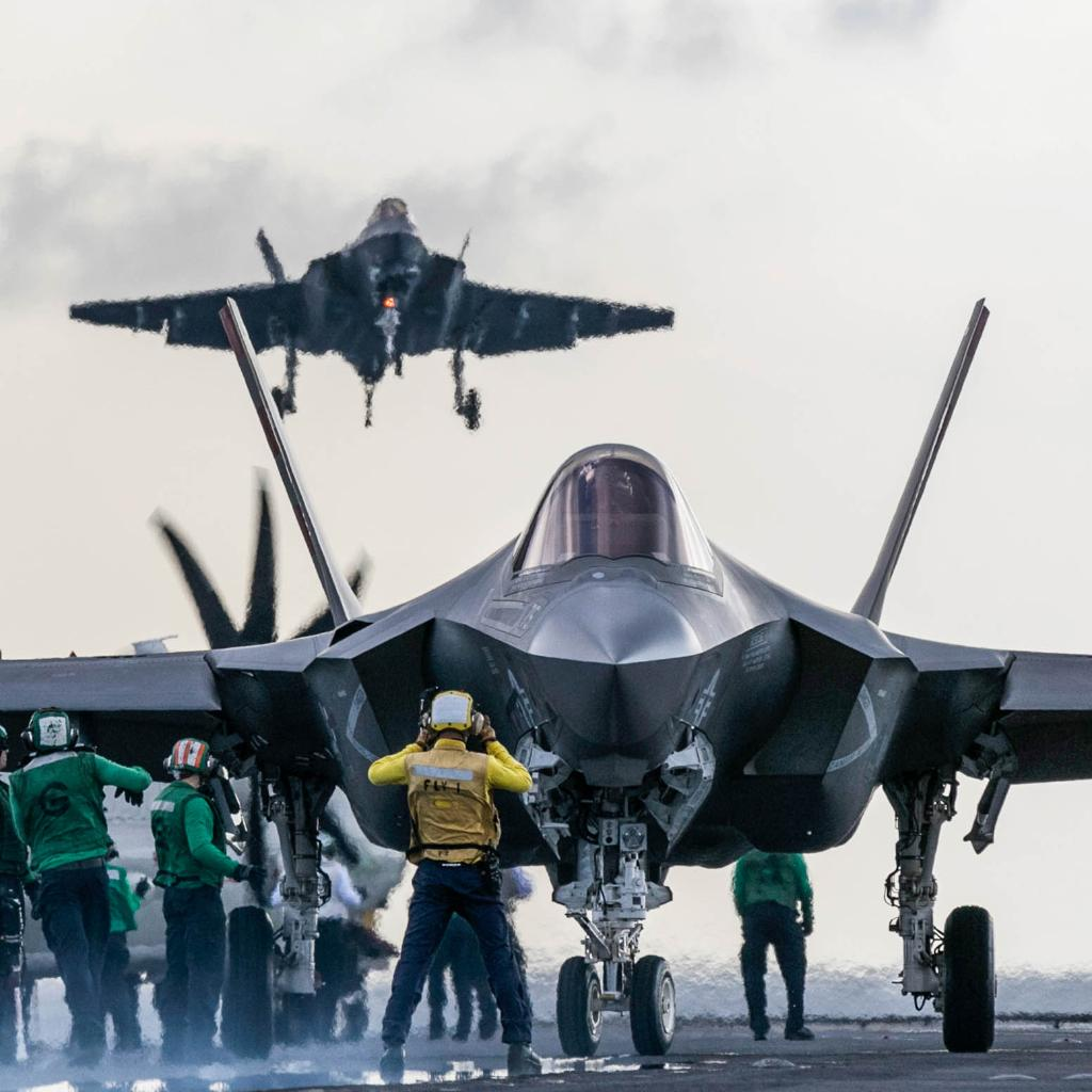 """With stealth technology, advanced sensors, weapons capacity and range, the F-35 is the most lethal, survivable, connected and interoperable fighter aircraft ever built."" - Vice Adm. Mat Winter, F-35 Program Executive Officer  Read more:  https:// lmt.co/2UD94w6  &nbsp;   <br>http://pic.twitter.com/MHmDqwvaE8"
