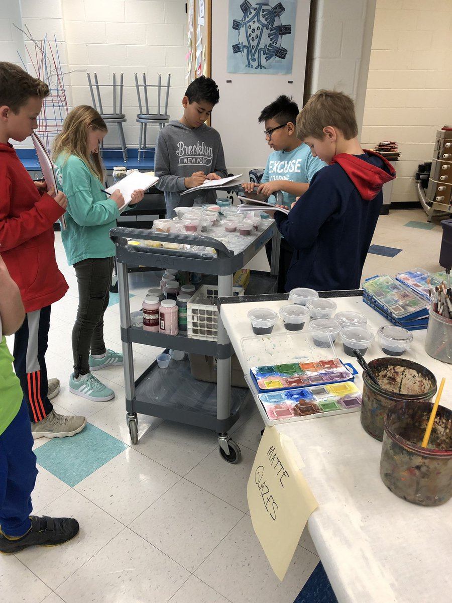 Students are looking at glazes and taking notes and making plans in order to prepare for glazing next class <a target='_blank' href='http://twitter.com/longbranch_es'>@longbranch_es</a> <a target='_blank' href='http://twitter.com/APSArts'>@APSArts</a> <a target='_blank' href='http://twitter.com/APSPersonalized'>@APSPersonalized</a> <a target='_blank' href='https://t.co/Fk6BuNHd8b'>https://t.co/Fk6BuNHd8b</a>