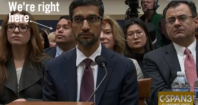 We're right behind you @sundarpichai. Just to remind you to #DropDragonfly (in case you forget.)