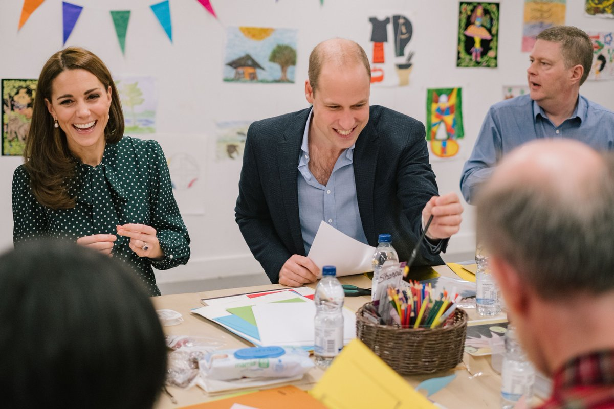The Duke and Duchess joined service users @PassageCharity for an arts and crafts workshop to prepare cards and gifts ahead of the centres Christmas party next week.