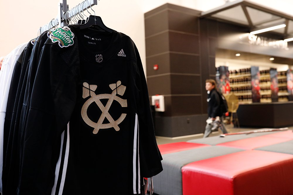 93d86b578 ICYMI  Blackhawks  WinterClassic practice jerseys are available now at the   BlackhawksStore
