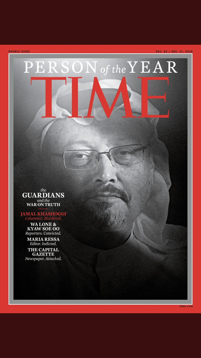 #جمال_خاشقجي شخصية العام . ( المجلة اختارت جمال وصحفيين آخرين ) #TimePersonOfTheYear #JamalKhashoggi