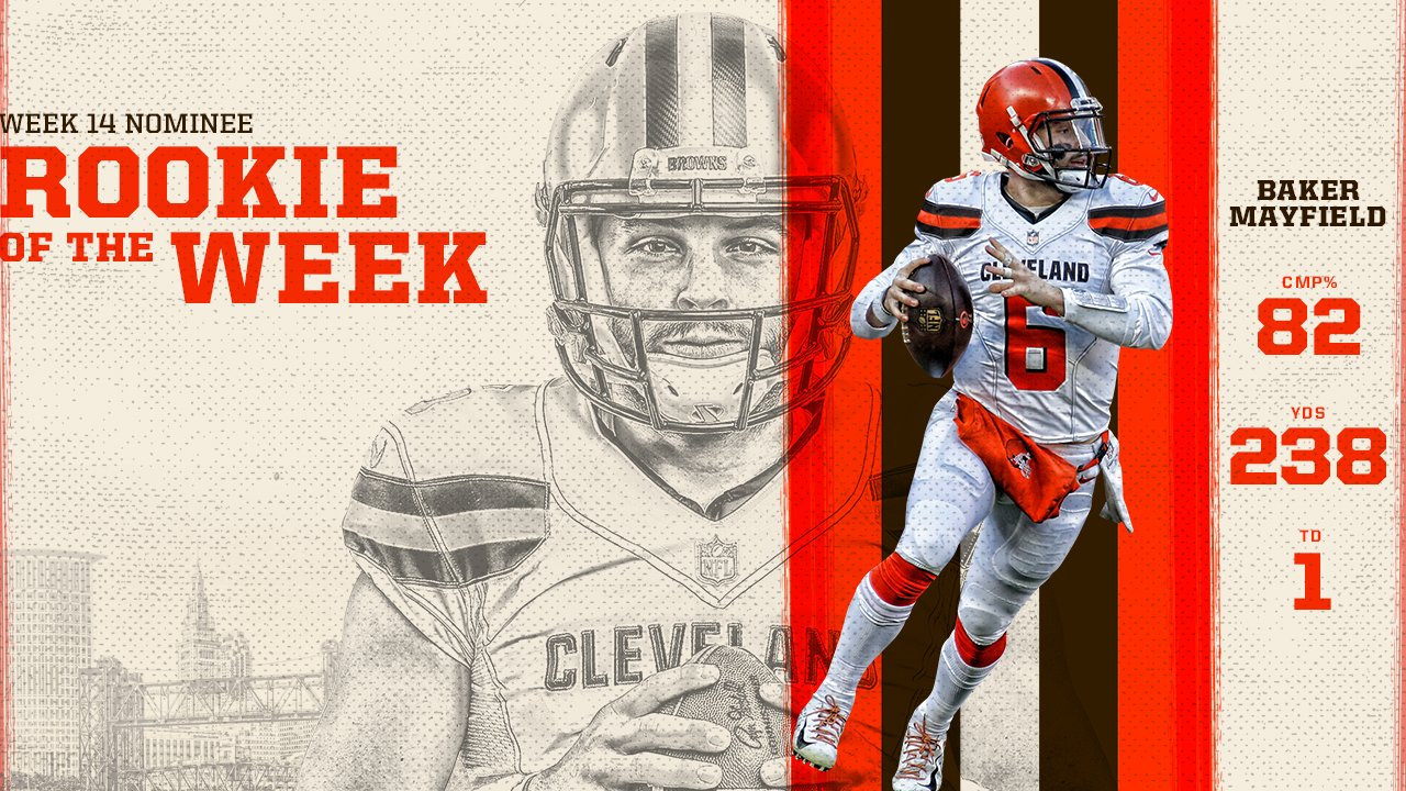 QB @bakermayfield is up for @NFL Rookie of the Week‼️  VOTE! » https://t.co/W8kNgUH6NG  #ProBowlVote https://t.co/LodJ7uJX1m