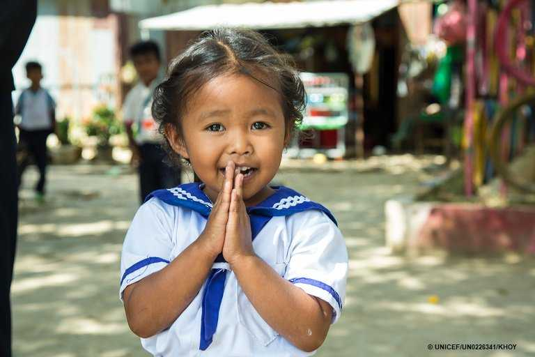 The soul is healed by being with children - Fyodor Dostoyevsky. @un pic:@unicefcambodia @sdg2030