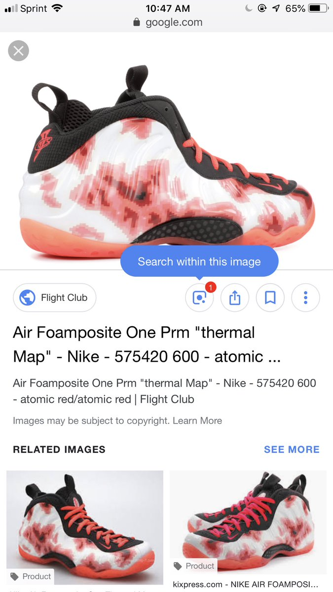 Nike Air Foamposite One Fighter Jet Black Gray Camo Red ...