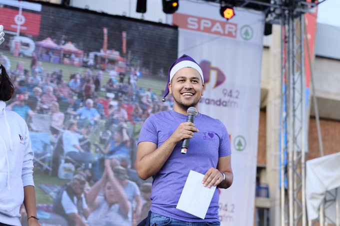 Our presenters are such awesome hosts for the SPAR Carols by Candlelight with Jacaranda FM. #JacaCarols @RenaldoSchwarp @kriyaG Photo