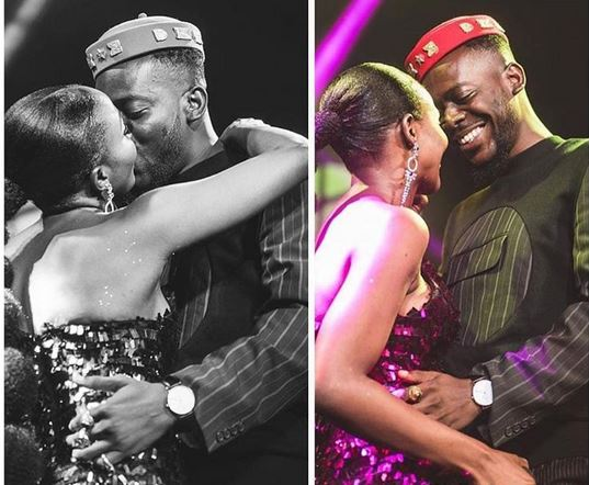 Nigerian singer, Simisola Bolatito better known as @SympLySimi shares adorable photos of herself with her best friend, AdekunleGold kissing passionately on stage during her concert, #similiveinlagos which held recently.   #simi #symplysimi #adekunlegold #celebrityloverspic.twitter.com/cWcfobLREb