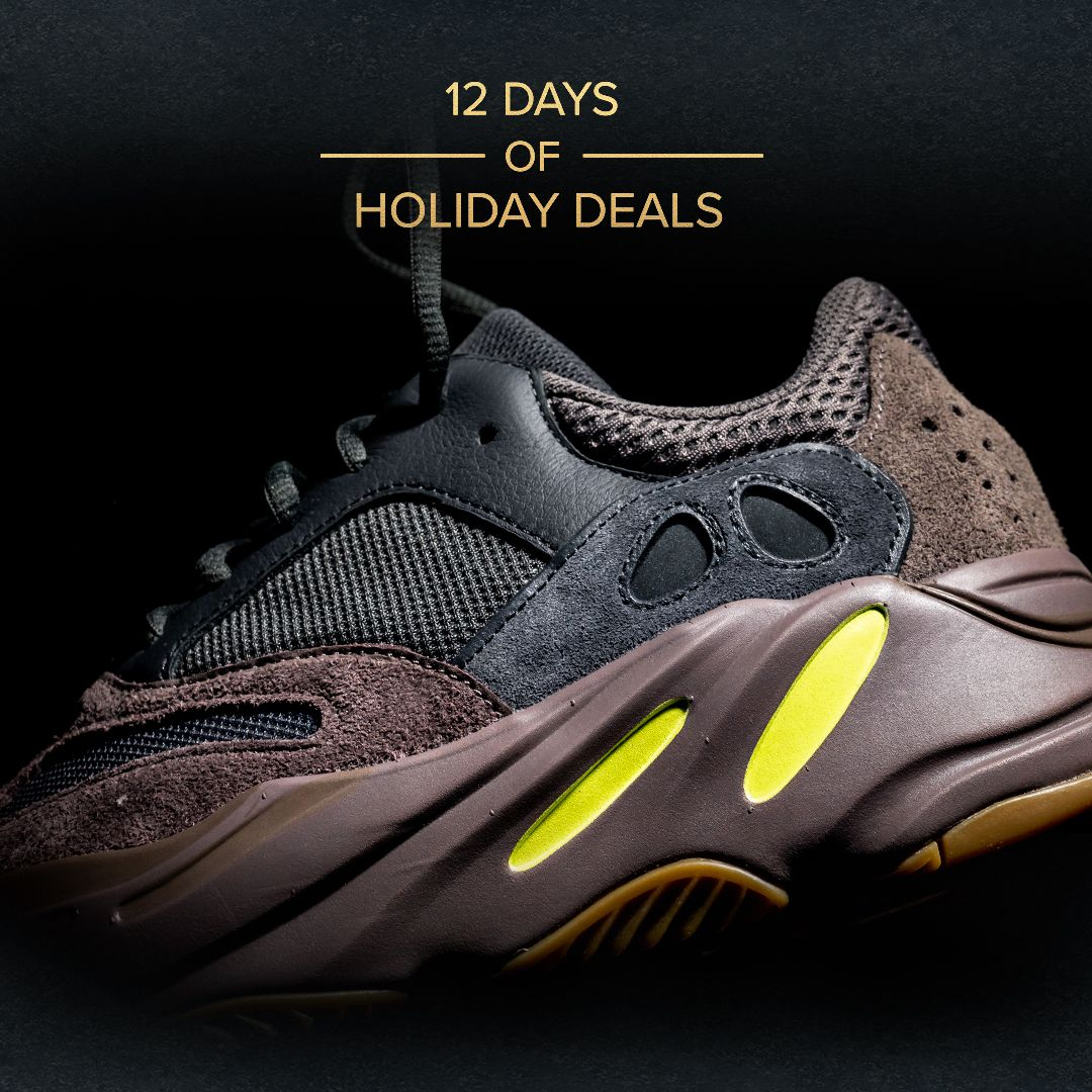 "2feb4b459b6 Shop the adidas Yeezy Boost 700 ""Mauve"" at RETAIL price for Day 11 of our  Holiday Deals! Don t wait"