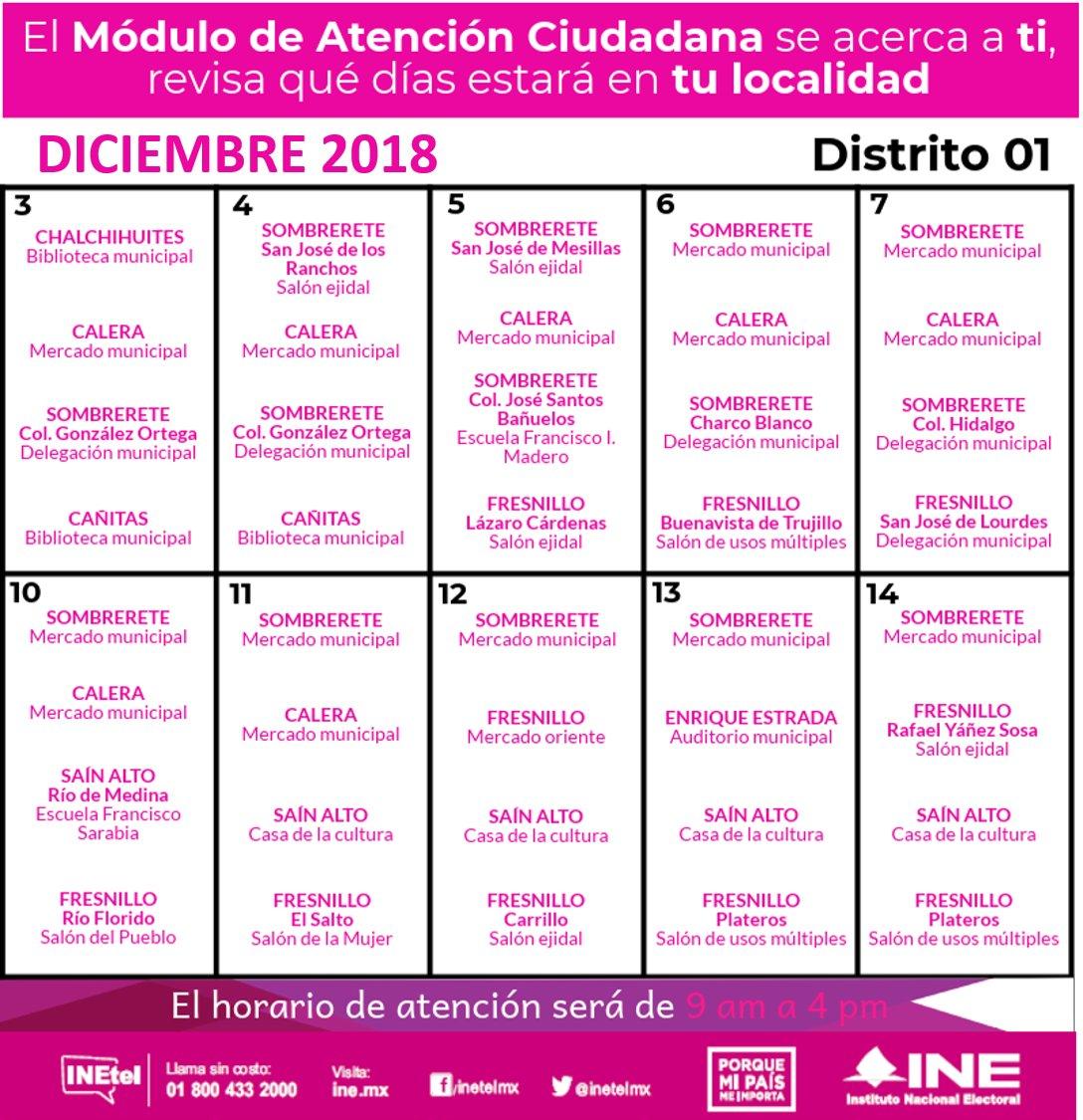 Ine Zacatecas On Twitter Programación De Módulos Móviles