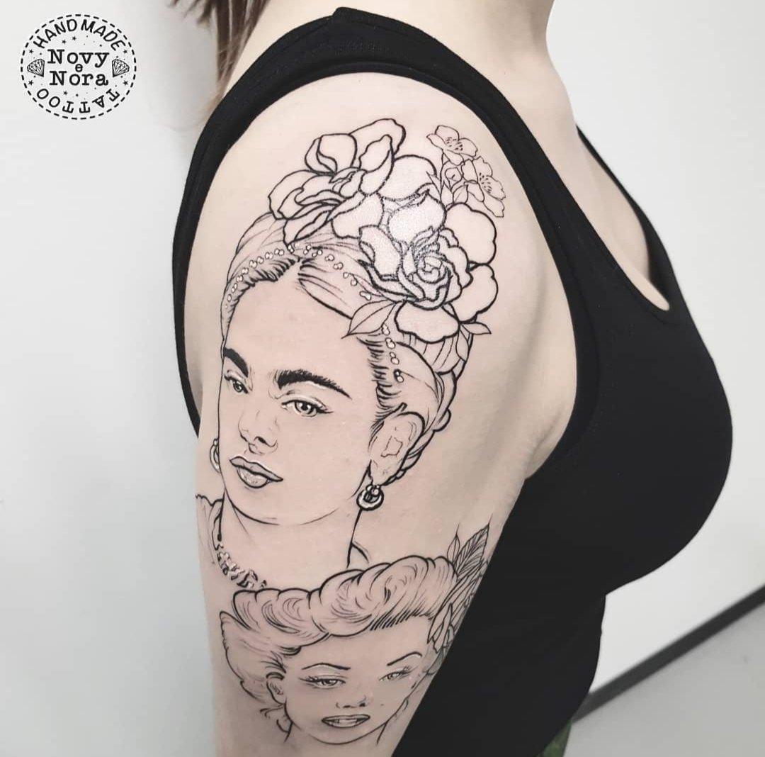 6a3393d16 #girltattoo #girlart #fridakahlo #fridakahlotattoo #marilynmonroe #marilyn  #marilyntattoo #girlpower #grlpwrtattoo #grlpwr #tattooedgirls #tattoo # tattooart ...
