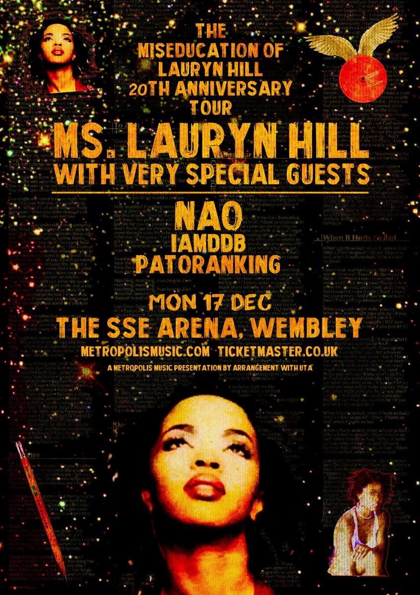 🚨 COMPETITION 🚨 Win 2 tickets to see the legendary Ms. Lauryn Hill (and friends) on Monday 17th December @ Wembleys SSE Arena 💥 Enter: RT + follow @complex_uk