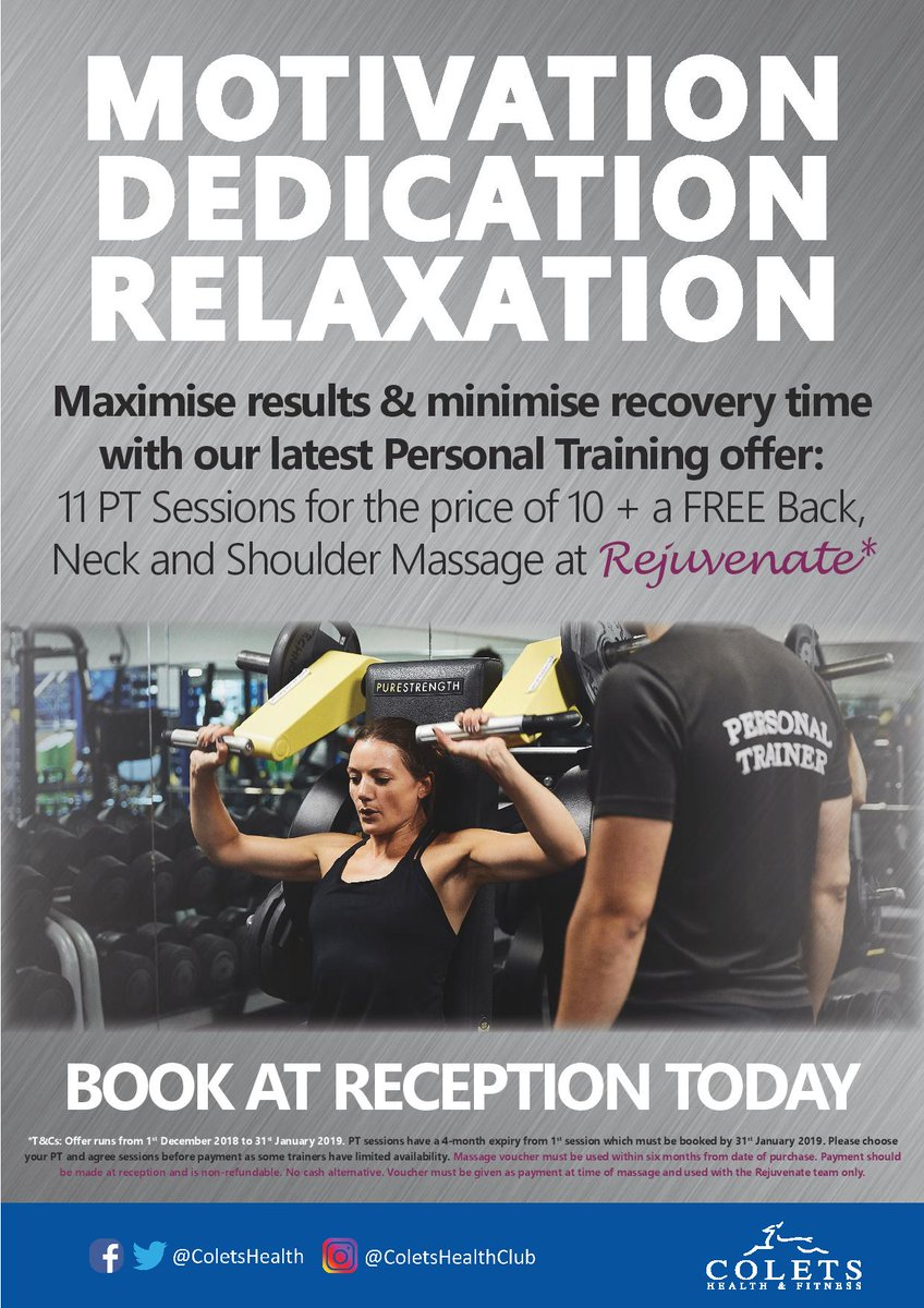 013527054e2 ... of 10 plus a FREE Back Neck and Shoulder Massage at Rejuvenate! Book  now at reception - T C s Apply.  gym  fitness   offerpic.twitter.com CfPtfQ1ucn