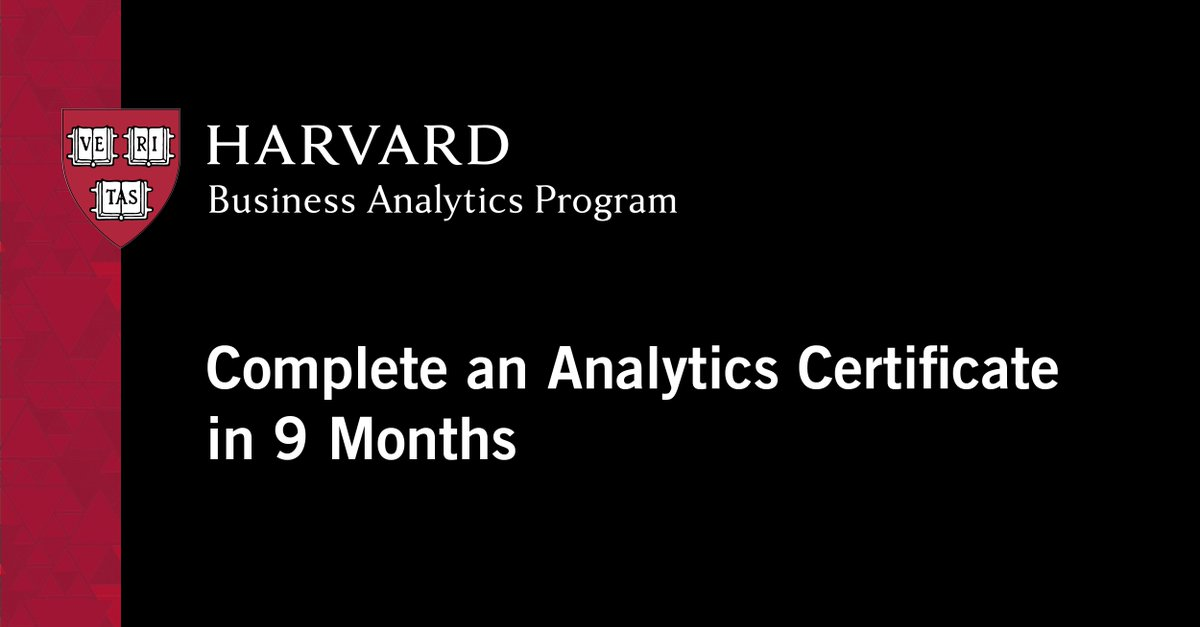 This rigorous cross-disciplinary online program prepares leaders with the analytics, leadership, and strategy skills to drive better business outcomes. Complete in as few as 9 months. https://hbs.me/2SAKk5S