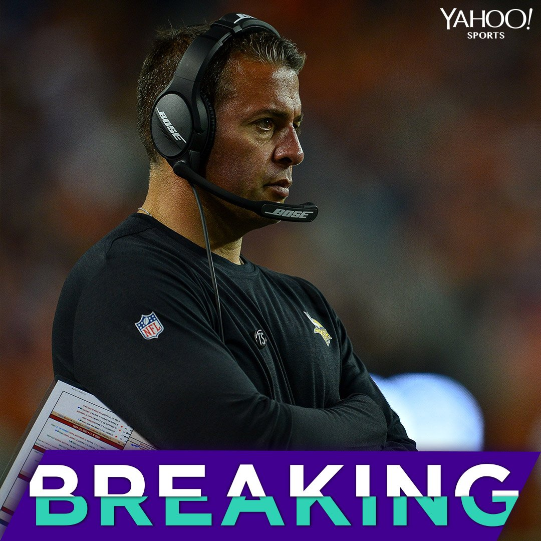 The Vikings reportedly fired OC John DeFilippo after the MNF loss to the Seahawks, according to @Rapsheet.
