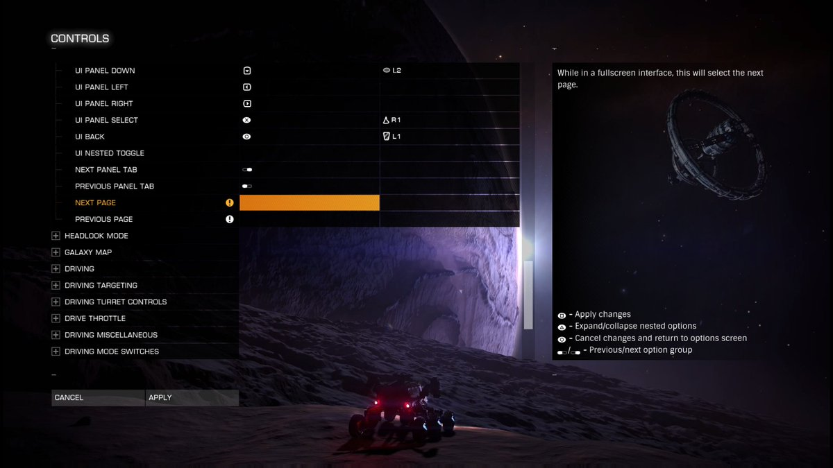 PS4 HOTAS Bindings for Chapter 4 | Frontier Forums