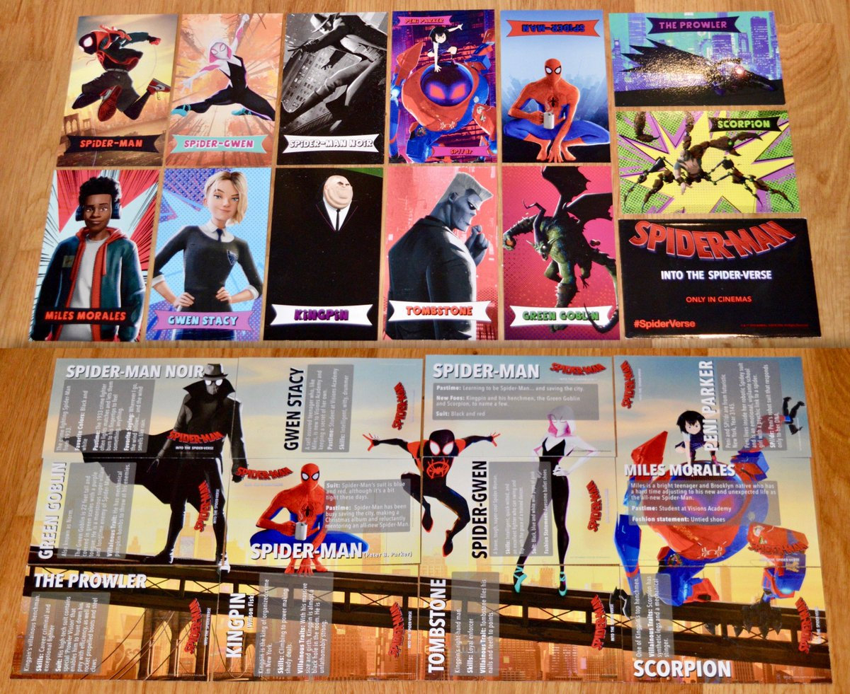 Check out these sweet #SpiderMan trading cards, exclusive to @ODEONCinemas. You can pick up a pack of 3 every time you see #IntoTheSpiderVerse from Dec 12-16. Flip em over and they make a mini poster. Hell of a bonus, considering the movies already a huge treat! #ODEONLimitless