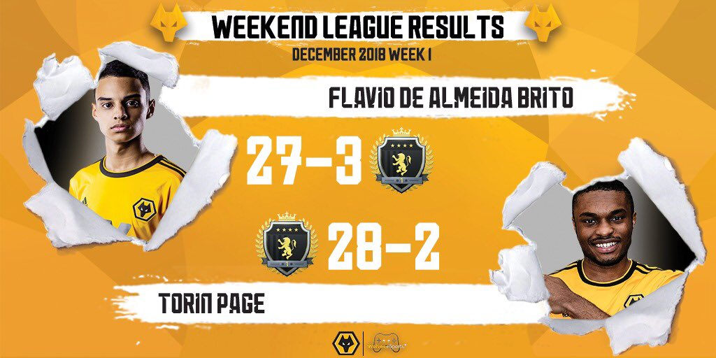 First Weekend League of this Month 🗓 with @Fifilza7 27-3 and @TheTurin27 28-2 ✅  #wolvesesports #esports #FIFA19 #weekendleague #futchampions #fut19