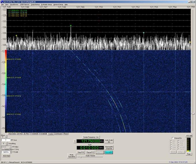 Soyuz MS09 EVA comms, Doppler clearly visible. Photo