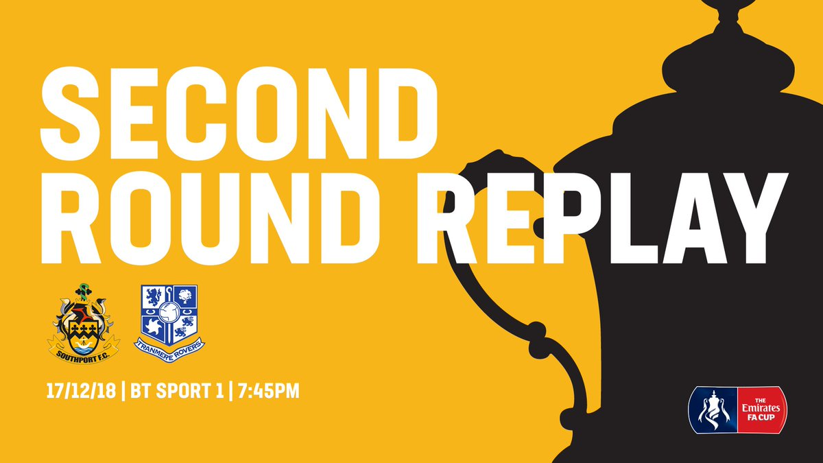 There are less than 100 tickets left for Southport's FA Cup replay with Tranmere Rovers on Monday evening at the Merseyrail Community Stadium.    The allocation for @TranmereRovers is now SOLD OUT.    - Tickets through @KaizenTicketing are OFF SALE.    - The Club Shop will be open tomorrow...