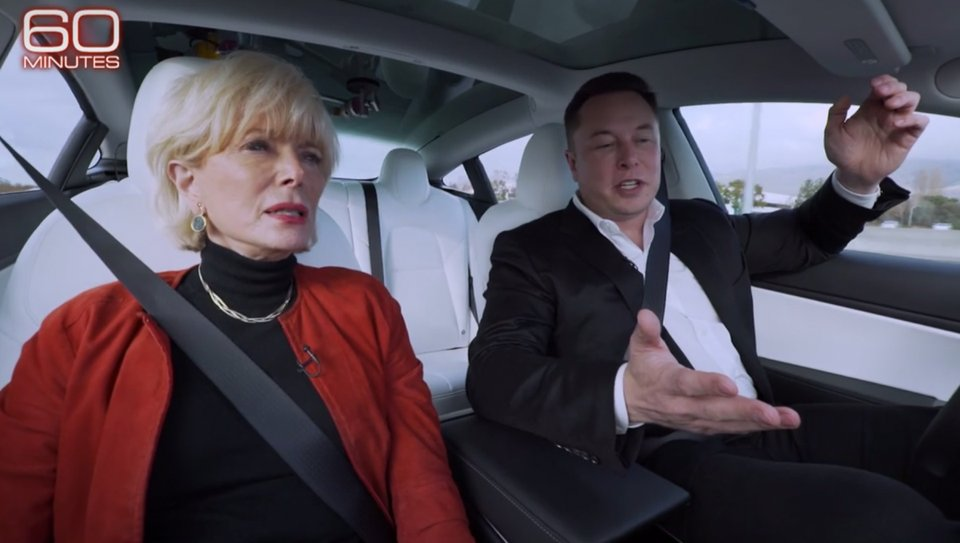 To demonstrate Autopilot engagement on 60 Minutes, Elon Musk took his hands off the steering wheel—something the company cautions owners not to do http://on.forbes.com/6019EHa27