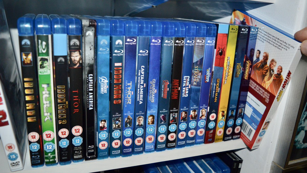 For now let me say, Without hope or agenda, Just because its Christmas - (And at Christmas you tell the truth): THIS, TO ME, IS PERFECT! All 20 Marvel Movies on beautiful Blu-ray, tidily displayed in release order. Im talking Love, Actually. #AntManAndTheWasp