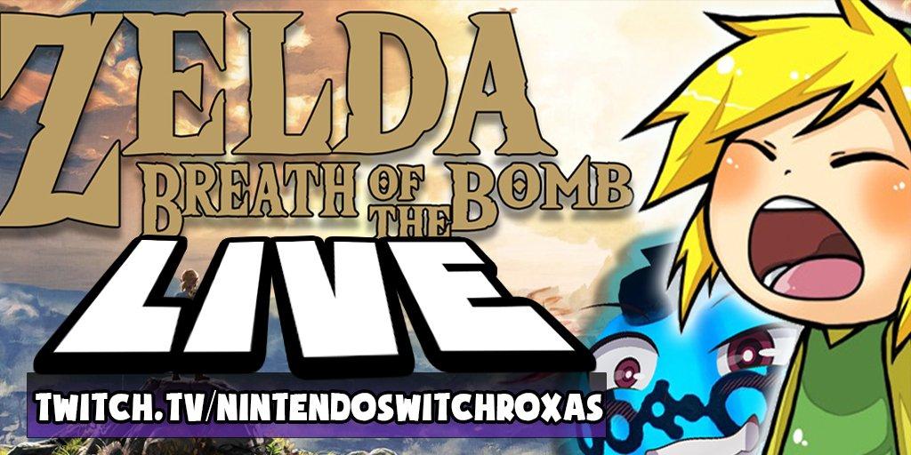 LIVE: Zelda Bomben Challenge FINALE! https://www.twitch.tv/nintendoswitchroxas… #letsplay #twitchde #twitch #TwitchAffilate #PrimeNightRT #StreamAcademy #Streamsupportgermany #SupportSmallStreamers #zelda #botw #breathofthewild #nintendo #NintendoSwitchOnline