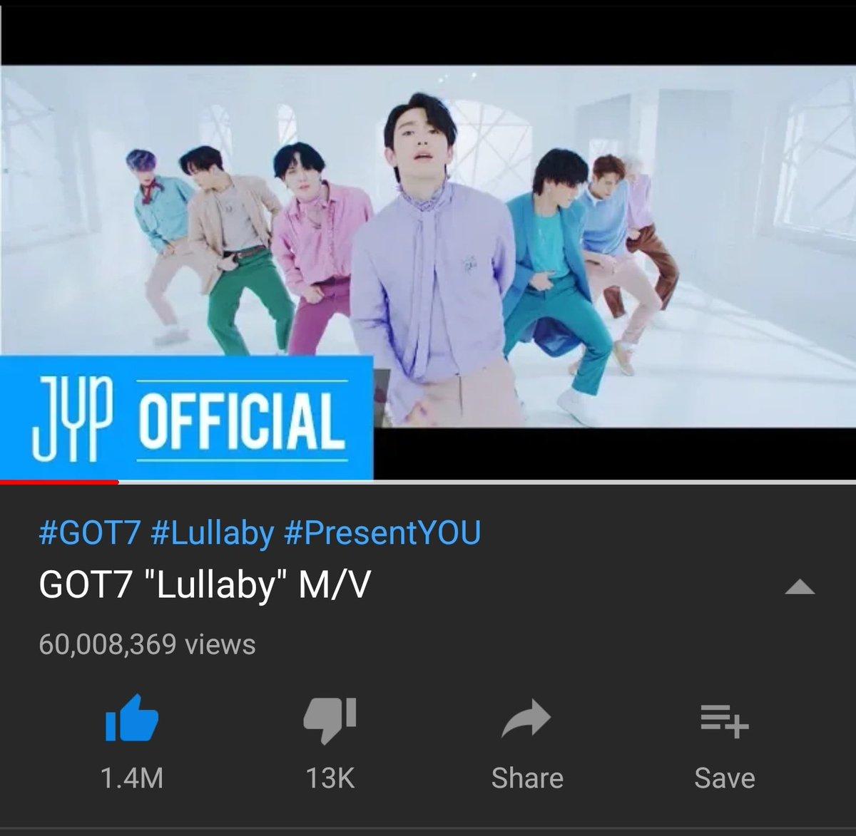 lullaby finally 60M   #Lullaby  #GOT7  #PresentYOU  #갓세븐  #Present_YOUandME  @GOT7Official<br>http://pic.twitter.com/5nTX5u4zWB
