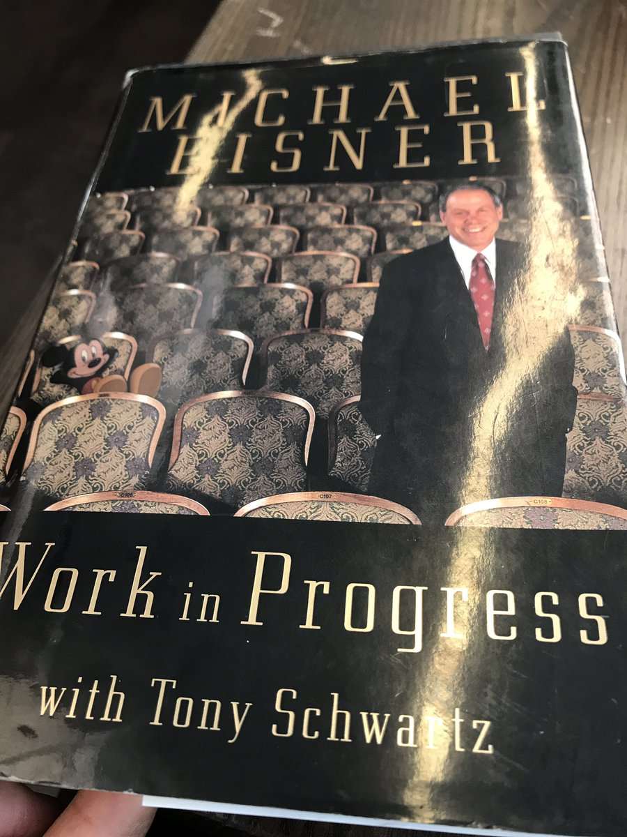 Just finished your book sir!! Love it Hope can meet you in person one day soon 🙏🏽❤️ @Michael_Eisner https://t.co/SjyuyAeGcc