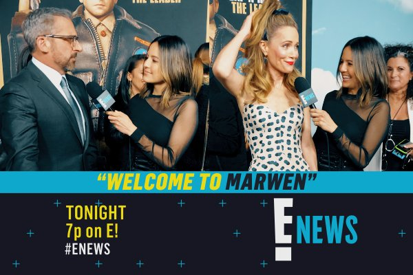 Well, well, well, how the turntables. Get a look inside the Welcome to Marwen premiere with Steve Carrell and Leslie Mann tonight on #Enews.