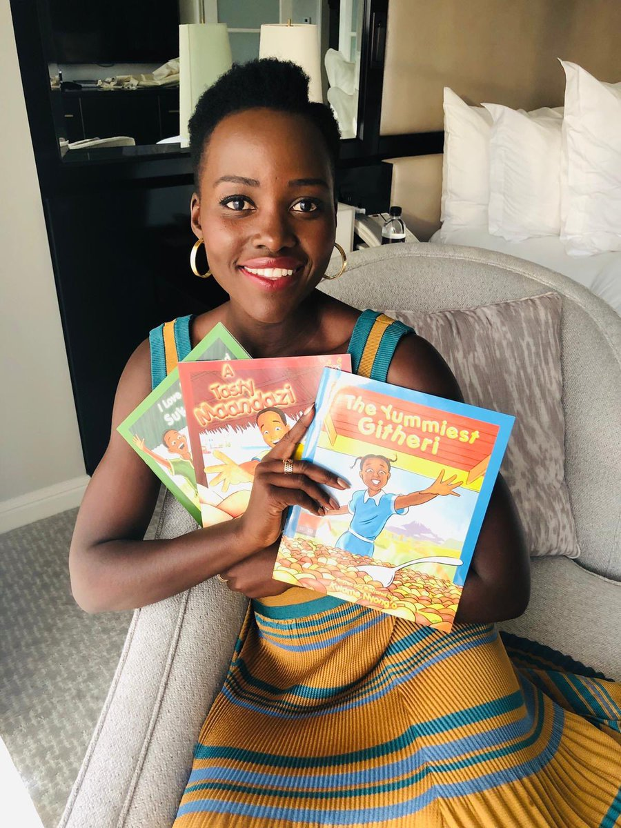Yes! #TheYummiestGitheri is out! My hunger for Kenyan food is satiated momentarily as I read this latest children's book in the series by Kwame Nyong'o. All available on Amazon! #PromotionFromTheHeart #yeswearerelated https://t.co/9BscenEfTk