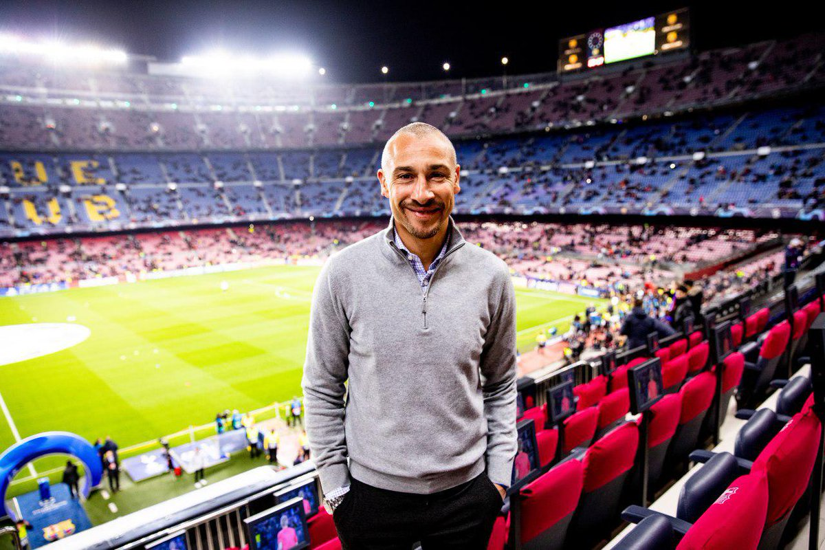 👀 Look who came out to Camp Nou tonight! 👋 Henrik Larsson