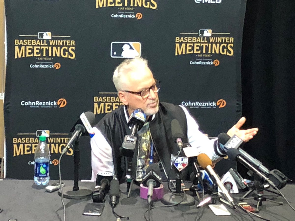 #Cubs manager Joe Maddon, formerly with #Rays, getting his turn in media room
