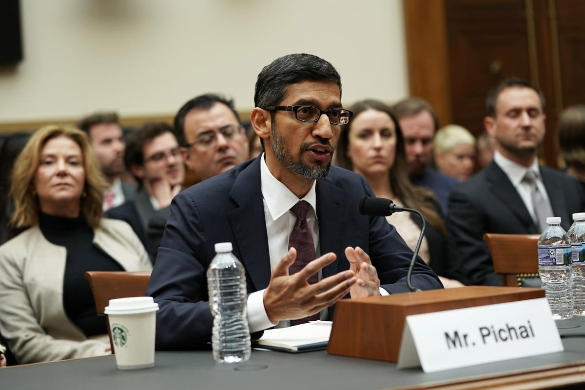 WATCH: Google CEO explains to Congress why Trump images appear when you search for 'idiot' https://t.co/Fv4K5XAX6F
