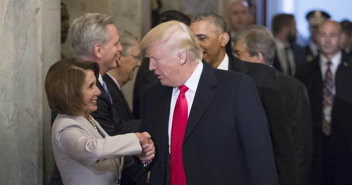 Pelosi brings up Trump 'manhood,' says meeting with him was like 'tinkle contest' with skunk https://t.co/4NP6bXjlEY