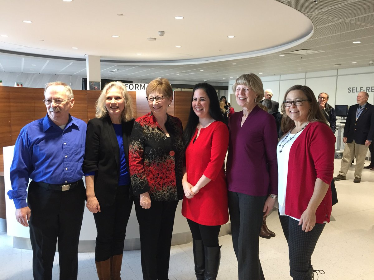 Some of the volunteers on the Dartmouth General Hospital Redevelopment Public Advisory Committee, with Janet Knox President and CEO NSHA. @NSHAcentral