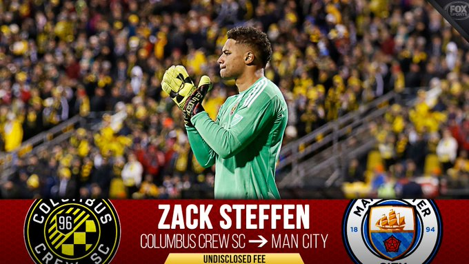 Zack Steffen is signing with the Premier League champs! 🇺🇸 The USMNT star will join Manchester City next summer for a fee Columbus confirms is the largest ever for an MLS goalkeeper. Photo