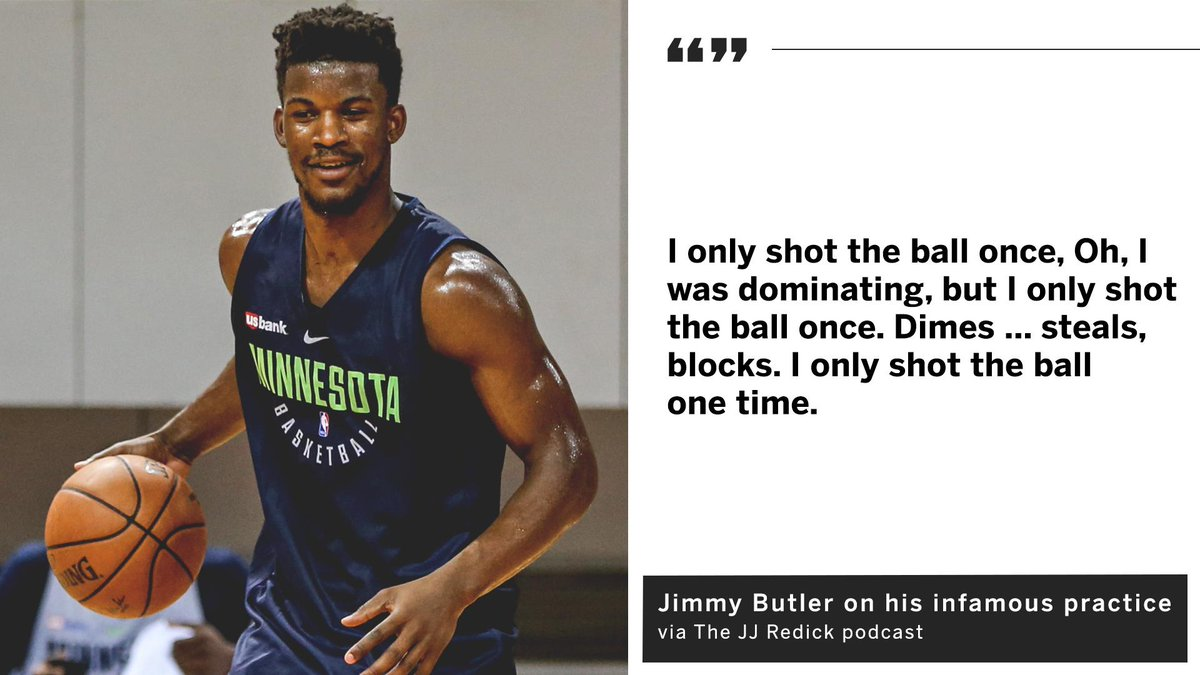 Jimmy Butler says the most interesting detail from his infamous practice with the Wolves was never told ...  ... until now. <br>http://pic.twitter.com/kRFpzf6DRo