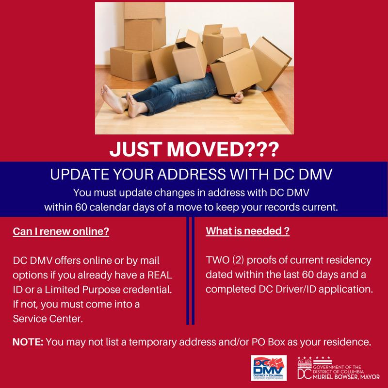 change your address dmv washington