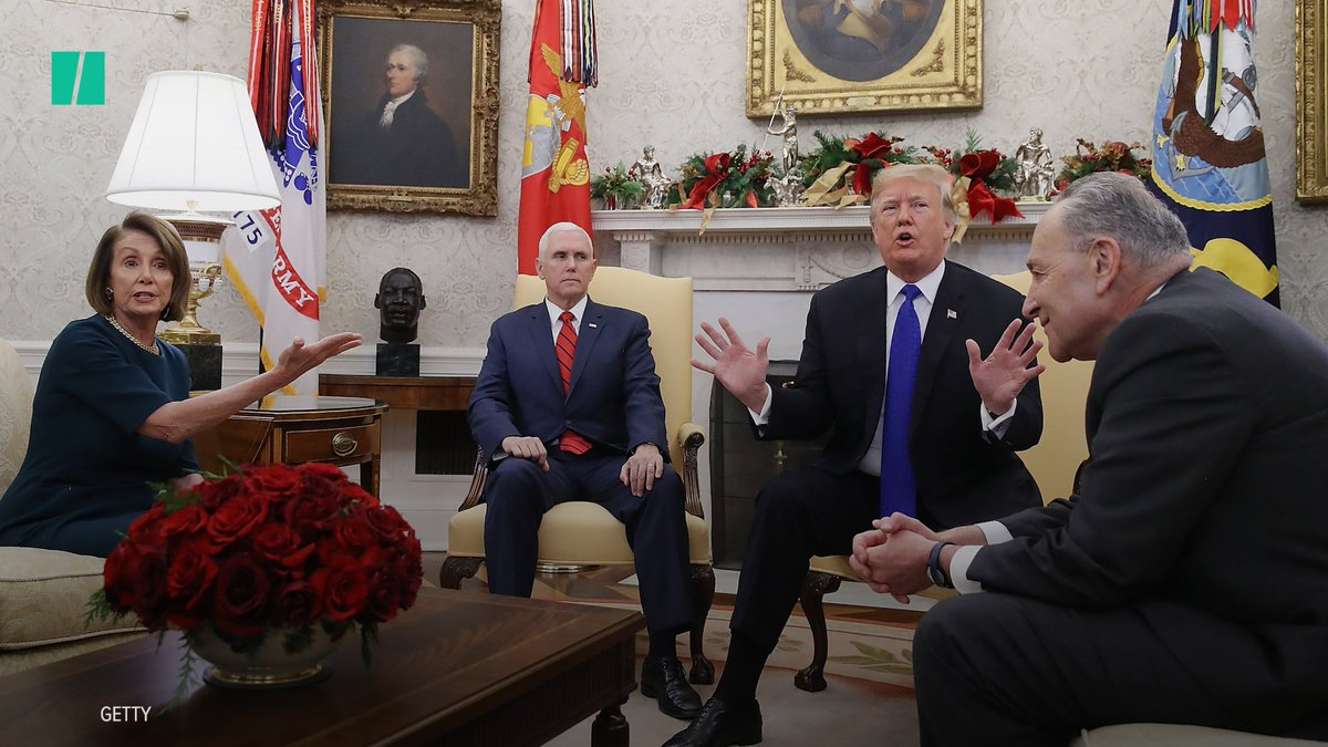 President Donald Trump got in an uncomfortable Oval Office squabble with House Minority Leader Nancy Pelosi and Senate Minority Leader Chuck Schumer over border security, wall funding and government shutdowns.
