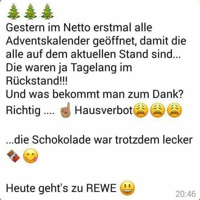 Weihnachtskalender Netto.Bochumer76 On Twitter Netto Advenskalender Schokolade D