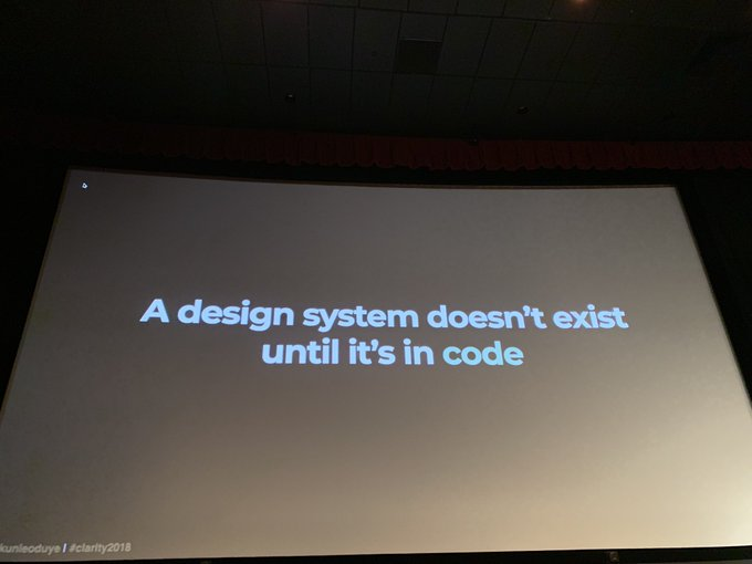 'A design system doesn't exist until it's in code' - photo by Nicolette Tran