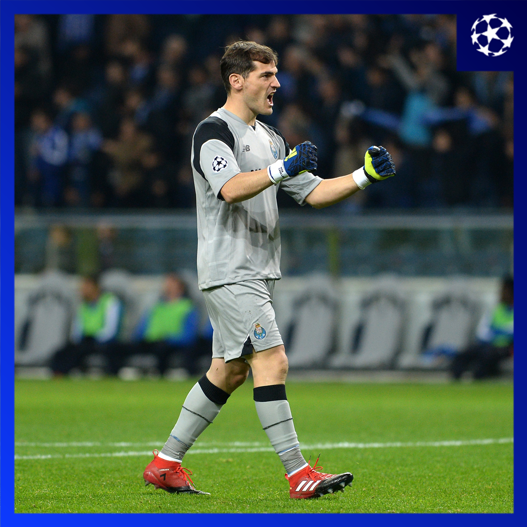 💯 Iker Casillas becomes the 2nd player in #UCL history to reach 100 wins 💪