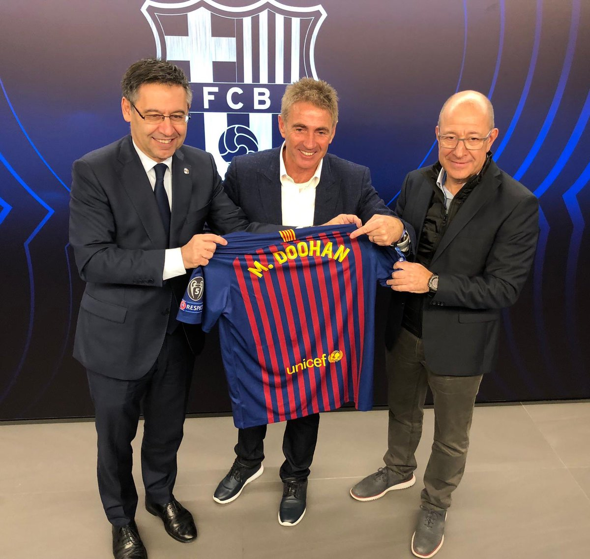 ⚽️ @micksdoohan is the special guest tonight to the @FCBarcelona Champions League match against Tottenham at the Camp Nou 👌