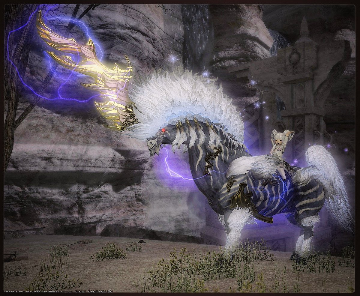 I got the Ixion mount on my Lich alt just now 💜💙 I