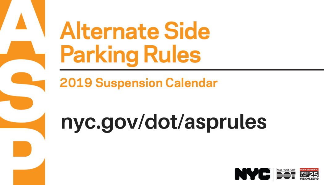Nyc Parking Calendar 2019 NYC DOT on Twitter: