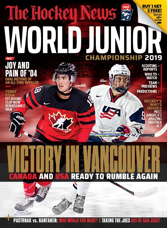 Our World Junior Championship Preview tees up tourney with in-depth breakdowns of Canada & the USA & much more. Also, an oral history of the 2004 WJC and features on San Jose's Joes (Thornton and Pavelski); Aho, Ellis and Yandle. Buy it on newsstands or at https://t.co/Z4BkwJVtnf